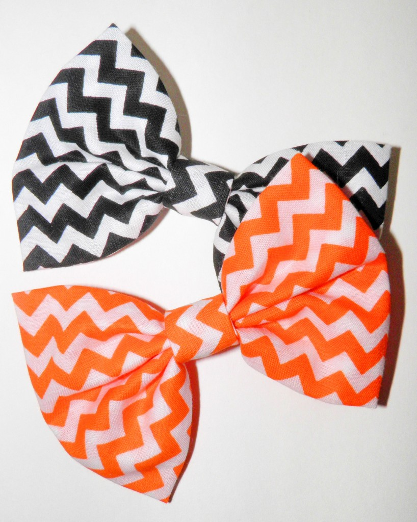 One lucky contestant will win these two lovely bows!
