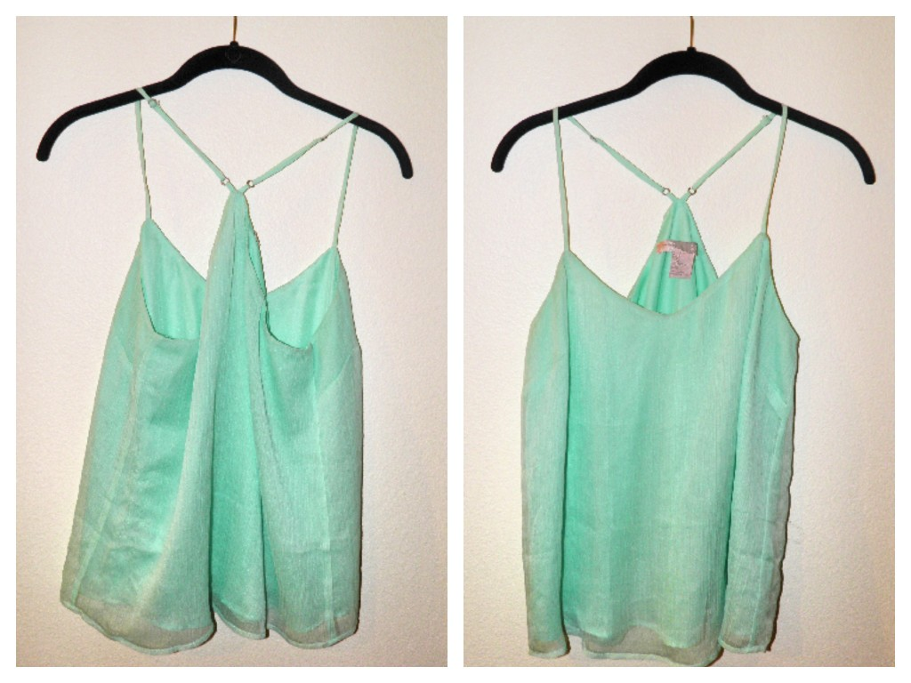 $9.99 mint tank from Forever 21 Tank. Worn twice.